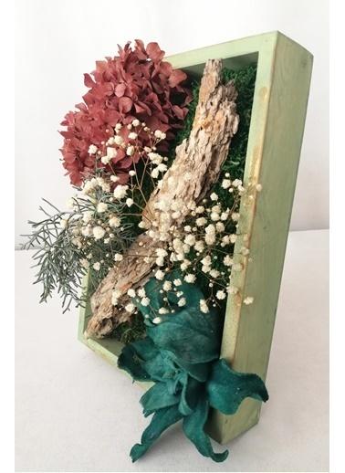 Kuru Çiçek Deposu Küçük Canlı Yosun Tablo Cipsolu (23 cm*30 cm) Renkli